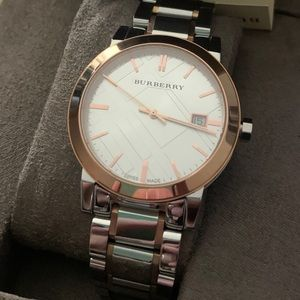 Burberry bu9006 men's watch two tones 38mm NWT